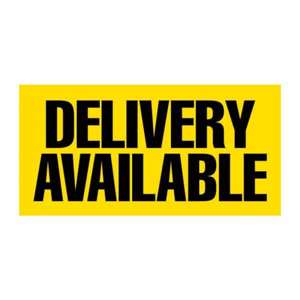Delivery Available (Yellow) Vinyl