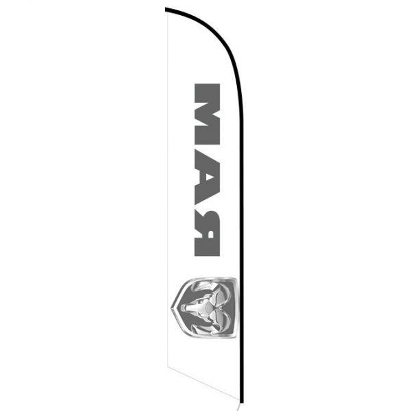 Dodge Ram feather flag