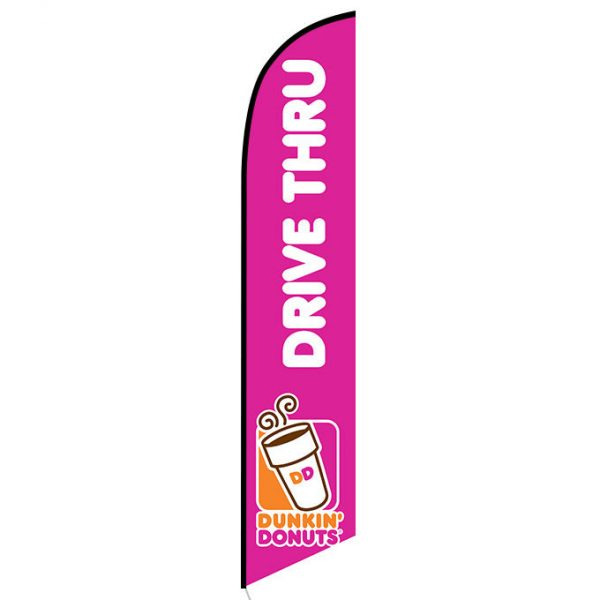 Dunkin Donuts Drive Thru feather flag