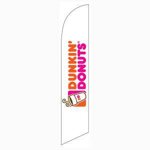 Use our white Dunking Donuts feather flag to get your location noticed