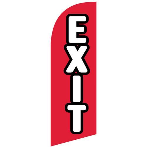 small Exit feather flag