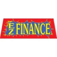 EZ Finance  Red windshield banner