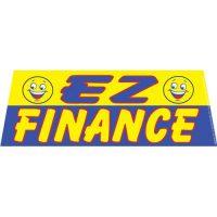 EZ Finance Yellow windshield banner