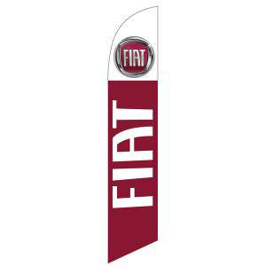 FIAT feather flag has a vivid design with FIAT logo in digital print.