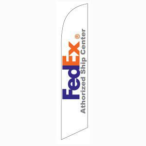 FedEx Authorized Ship Center feather flag for all FedEx authorized ship center