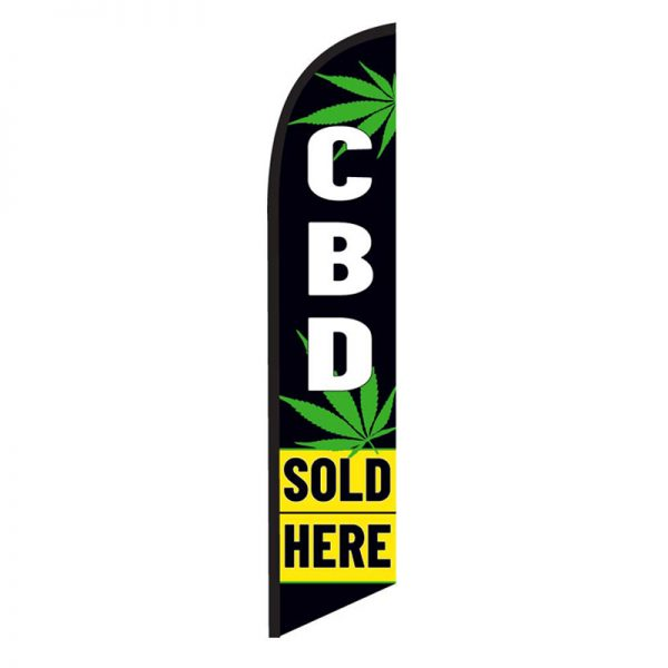 Cbd-sold-here feather flag-ffn-5896