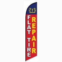Flat Tire Repair feather flag
