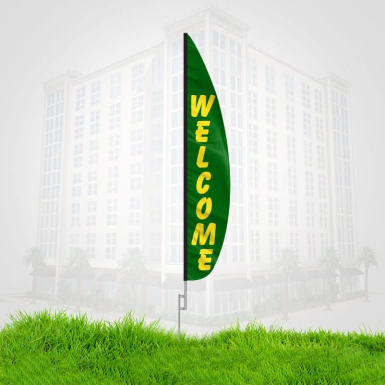 Welcome Flutter Banner Flag