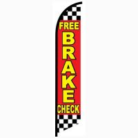 Free Brake Check Checkered Feather  Flag