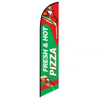 Fresh and Hot Pizza Feather Flag