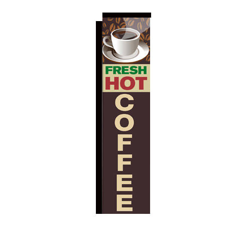 Fresh Hot Coffee Rectangle Banner Flag