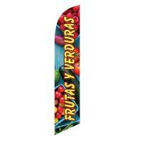 Frutas Y Verduras Feather Flag