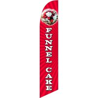 Funnel Cake Feather Flag Kit with Ground Stake