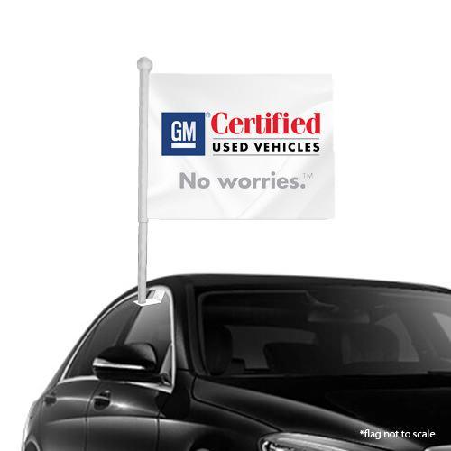 GM Certified  window clip on flag NSW 38