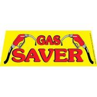 Gas Saver windshield banner