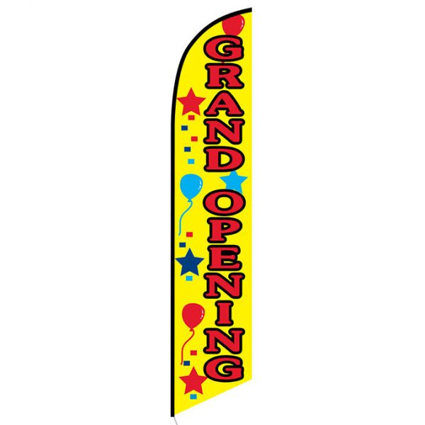Grand Opening (yellow) Feather Flag FFN-5061F front