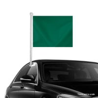 Solid Dark Green Window Clip-on Flag