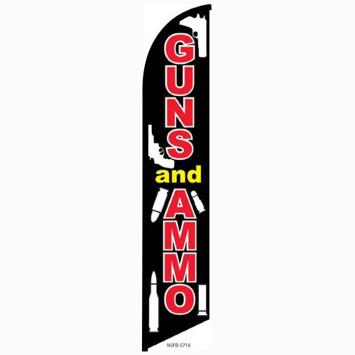 Guns and Ammo feather flag