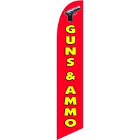 Guns n ammo Feather Flag Kit with Ground Stake