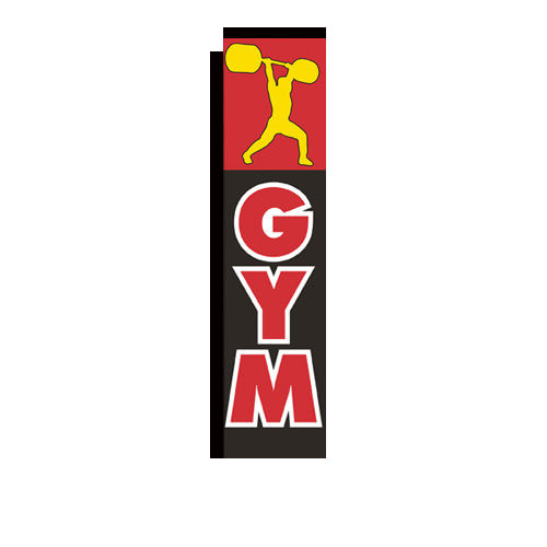 Gym Rectangle Flag Banner