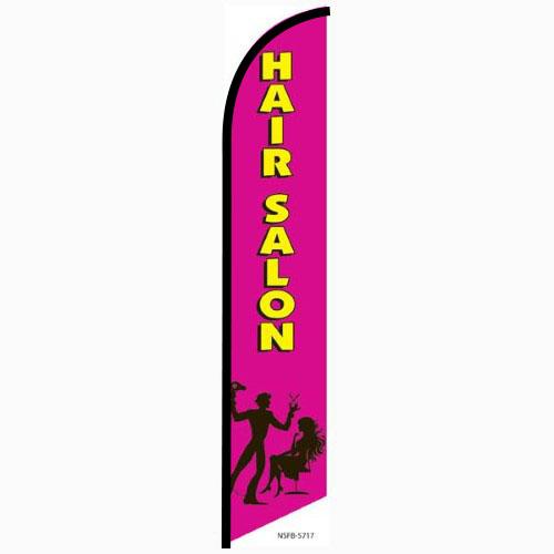 Hair Salon pink feather flag