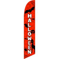 Halloween Feather Flag Kit with Ground Stake