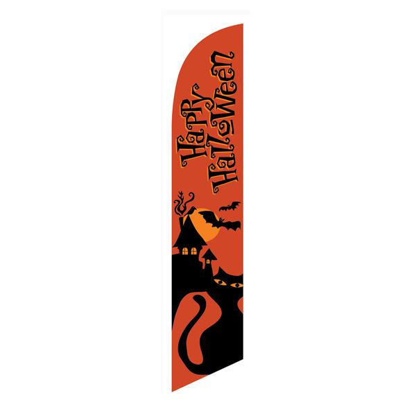 Outdoor advertising orange Happy Halloween feather flag