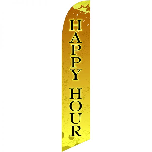 Happy Hour Feather Flag