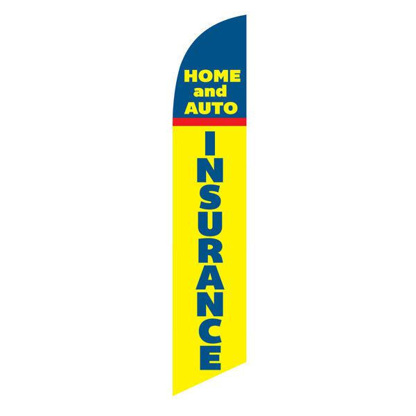 Home and Auto Insurance feather flag for your outdoor advertising needs