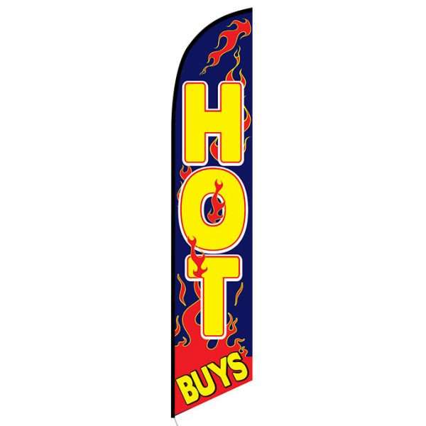 Hot Buys feather flag