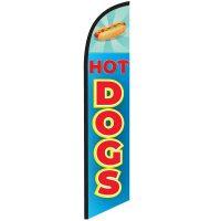 Hotdogs Blue Feather Flag