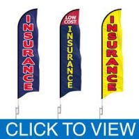 Stock Insurance Feather Flags