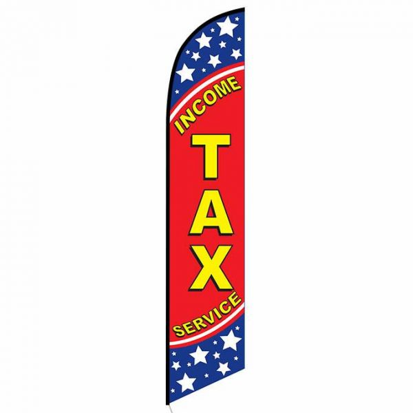 Income Tax Service feather flag patriotic