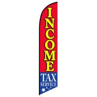 Income Tax flag banner