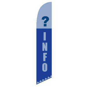 ? Information feather flag Question Mark Blue Swooper Banner