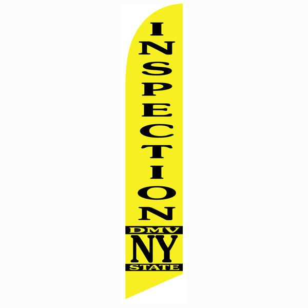 NY State DMV Inspection Feather Flag Outdoor Advertising Swooper Banner