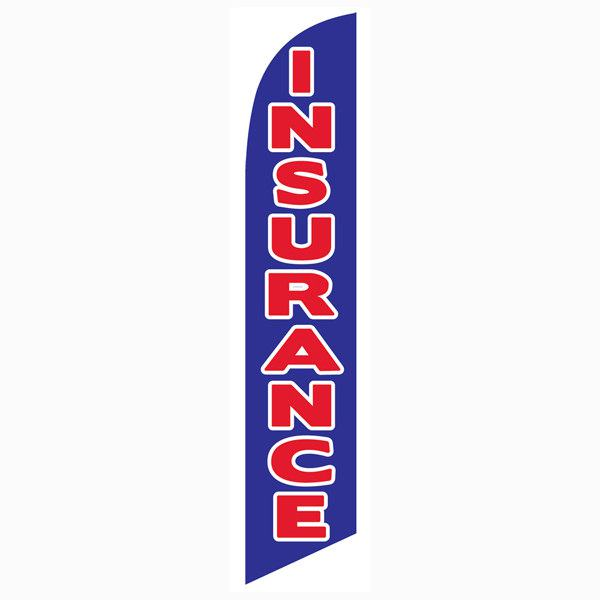 Bright blue Insurance feather flag as your outdoor advertising banner