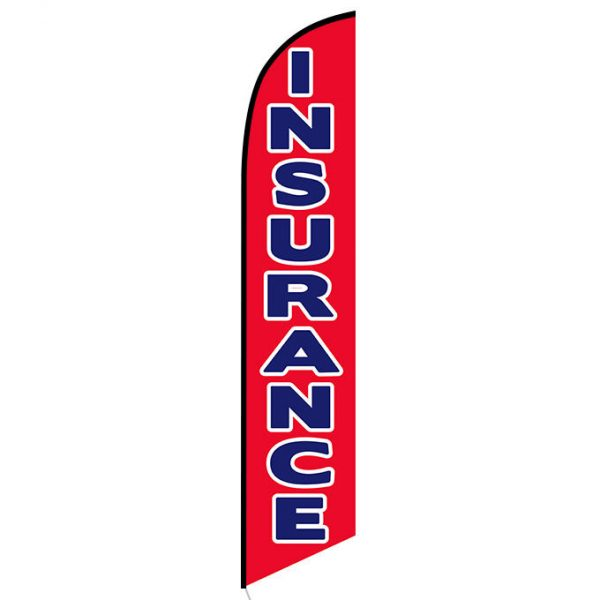 Insurance red feather flag