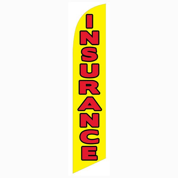 This yellow Insurance feather flag is the perfect swooper as your outdoor banner