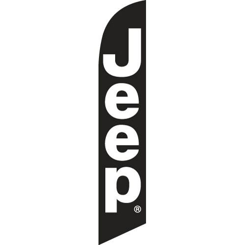 jeep flag banner - outdoor advertising feather flag.
