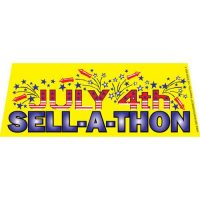July 4th Sell-a-thon windshield banner