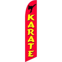 Karate 02 Feather Flag Kit with Ground Stake