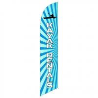 Kayak Rentals Feather Flag Kit with Ground Stake