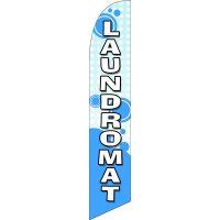 Laundromat Feather Flag