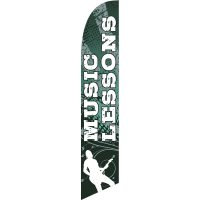 Lessons Music Feather Flag Kit with Ground Stake