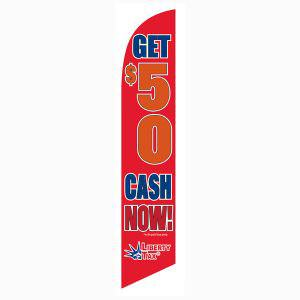 Liberty Tax Get $50 feather flag for Promotional Outdoor Use