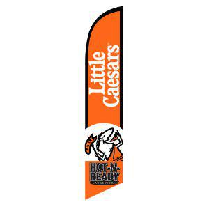 Little Caesars feather flag outdoor décor advertising banner