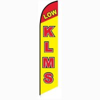 Low KLMS feather flag