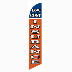 Low cost Insurance feather flag to advertise your competitive insurance rates