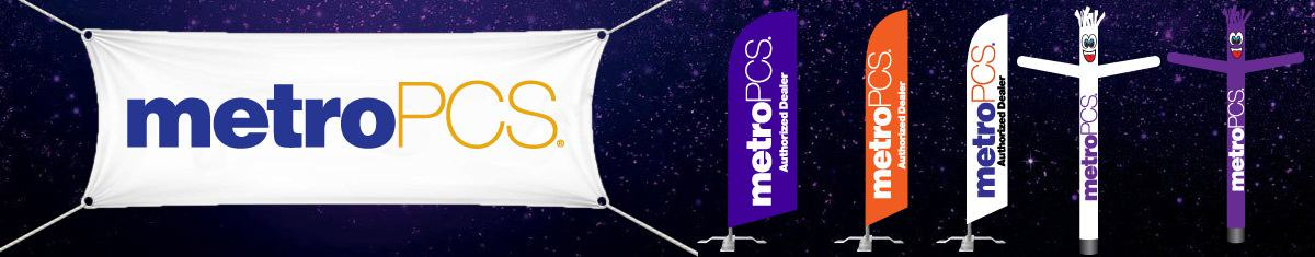 MetroPCS signs Feather Flags & Tube Dancers